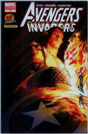 Avengers Invaders #2 Dynamic Forces Variant Signed John Romita Sr DF COA Ltd 80 Marvel comic book